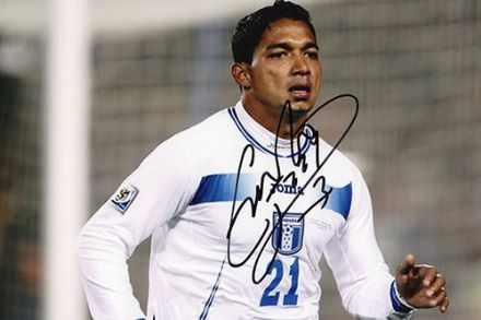 Emilio Izaguirre, Glasgow Celtic & Honduras, signed 6x4 inch photo.(2)